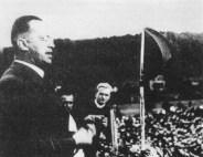 Konrad Henlein speaking in Carlsbad, 1937.