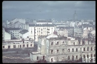 The aftermath of the bombing of Warsaw, October 1939. In the previous month, the Luftwaffe opened the German attack on Poland with operation Wasserkante, an air attack on Warsaw on 1 September.