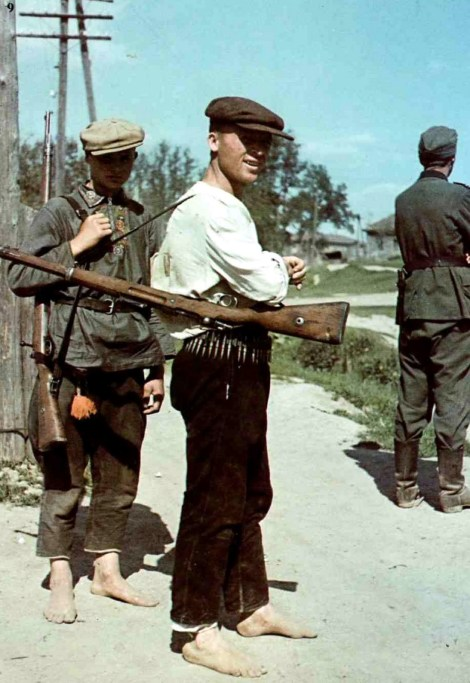 Operation Barbarossa, summer 1941: In many Ukrainian villages - especially in the District of Galicia assigned to Generalgouvernement - German soldiers were welcomed as liberators from Stalinist oppression.