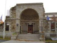 The old prison gate.