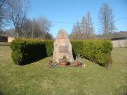 Memorial stone for the 78th Infantry Storm Division in the old camp of the former military training area Münsingen.
