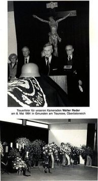 Funeral service for Walter Reder.