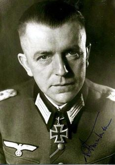 Knight's Cross Carrier Lieutenant Colonel von Steinkeller.
