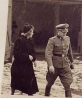 On 3 November 1943 with Traute Eggers, the widow of Kurt Eggers.