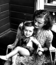 "Margarete Berta ""Gretl"" Fegelein and daughter Eva Barbara ( May 5, 1945 - April 25, 1971); Picture taken July 8, 1947."