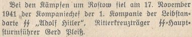 Wetzlarer Anzeiger 4.12.1941.