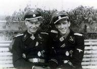 SS Obersturmführer and Knight's Cross bearer: Willi Hein (left) and Kurt Schumacher (right).