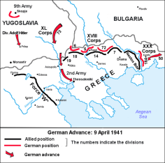 German advance until 9 April 1941, when the 2nd Panzer Division seized Thessaloniki.