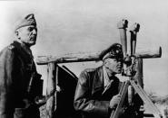 Seydlitz-Kurzbach (left) and Friedrich Paulus in Soviet Union, 1942.
