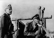 Seydlitz-Kurzbach (left) and Friedrich Paulus in Soviet Union, 1942.