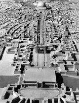 Plans for Berlin called for the Volkshalle (People's Hall) and a triumphal arch to be built at either end of a wide boulevard.