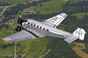 Ju-Air Junkers Ju 52/3m in flight over Austria, July 2013.