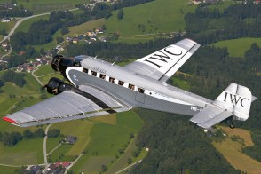 Ju-Air Junkers Ju 52/3m in flight over Austria, July 2013.