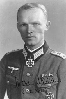 Wilhelm Walther, the first Knight's Cross bearer of the Brandenburgers.