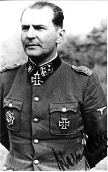 Knight's Cross bearer SS-Obersturmbannführer Walter Harzer.