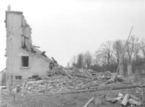 The 17th SS Division's headquarters after bombardment by the USAAF on November 8, 1944.