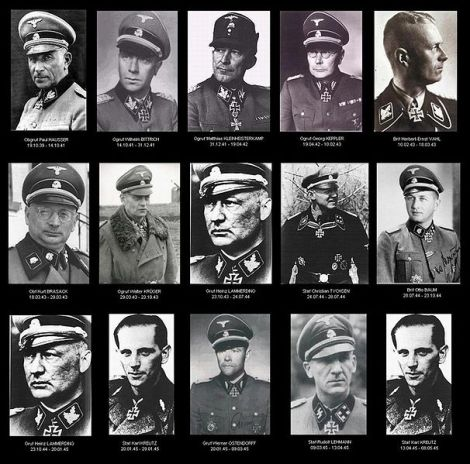 """Commanders of the 2nd SS Panzer Division """"Das Reich""""."""