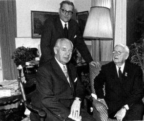Walther Wenck, Theodor Busse and Erich von Manstein.