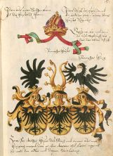 The imperial eagle depicted with one, two and three heads (Conrad Grünenberg 1483).