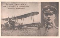 Lieutenant Immelmann, the most successful airman on enemy aircraft.
