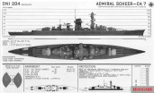 Recognition drawing of Admiral Scheer.