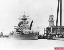 Admiral Scheer in Gibraltar in 1936.
