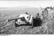 German soldiers with 5cm Pak 38 during the Tunisian Campaign.