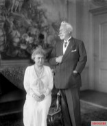 Hermine Reuss of Greiz and Wilhelm II at Huis Doorn in 1933.