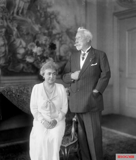 Hermine Reuss of Greiz and Wilhelm II at Huis Doorn in 1933.