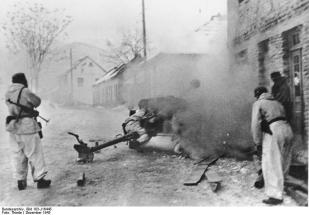 Using a Pak 40 against Yugoslav partisans in Bosnia on 12 January 1944.