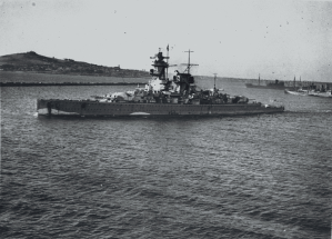 Admiral Graf Spee in Montevideo following the battle.