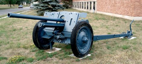 FK 36(r) anti-tank gun, displayed on the grounds of CFB Borden.