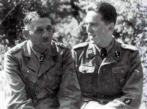 SS-Obergruppenführer Artur Phleps mit seinem Sohn SS-Untersturmführer Dr. Reinhart Phleps.