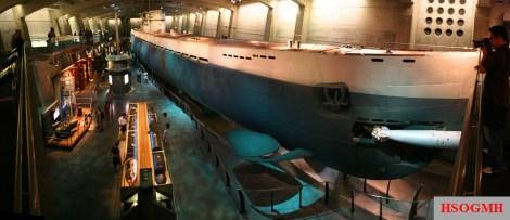 Wide-angle shot of U-505.