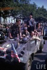 Captured German Kübelwagen in the Liberation of Paris.
