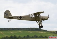 Storch in flight at Flying Legends, July 2012.