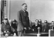 Ulrich von Hassell in front of the Nazi Volksgerichtshof, which condemned him to death in September 1944. Josef Wirmer is at the far right in the photo.