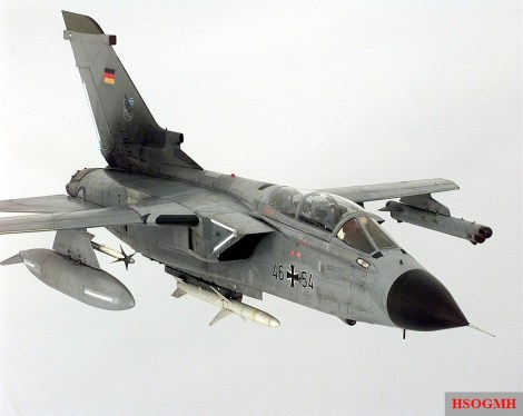 A Luftwaffe Tornado ECR during the air campaign over Kosovo, 1999.