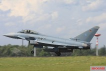 A Luftwaffe Eurofighter Typhoon -single-seater version.