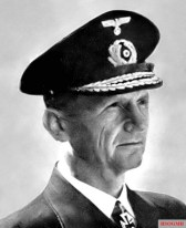 Naval Officer and Knight's Cross Carrier Rear Admiral Karl Doenitz, last Grand Admiral, Oak Leave Bearer, President of the Reich and head of the Doenitz Government.