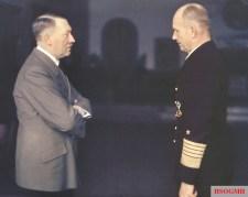 Adolf Hitler and Donitz.