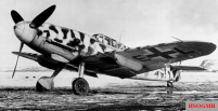 "Rudi Müller's Messerschmitt Bf 109 G-2 / R6 ""Yellow 3"" (work number: 14810) in Petsamo (in the border region of Russia to Finland and Norway) with winter tint , March 1943."
