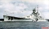 Battleship Scharnhorst on April 20, 1939.