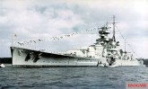 Battleship Scharnhorst on April 20, 1939.