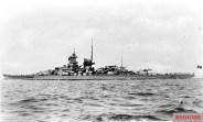 Gneisenau at sea.