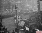 Captured aircraft paraded in London, 1918.