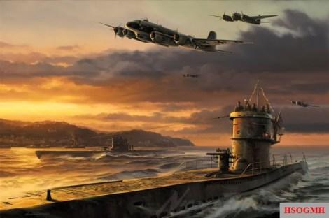Going to assist the attacked Battleship Scharnhorst, December 1943.