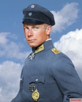 Ernst Udet, a recoloured portrait.