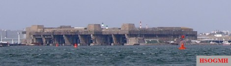 The German submarine base in Lorient, Brittany.