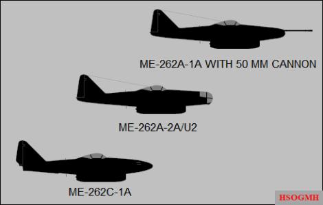 Me 262 variants.
